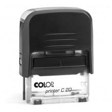 COLOP Printer C 20 fekete átlátszó aljjal