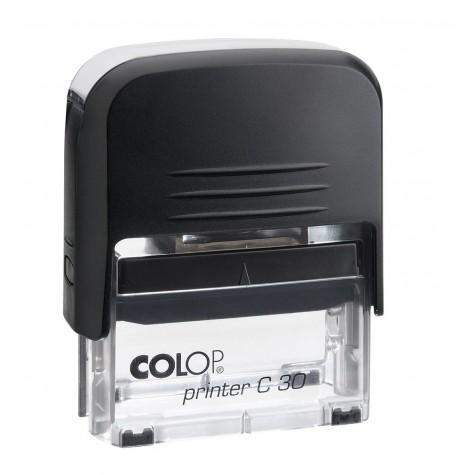 COLOP Printer C 30 fekete átlátszó aljjal